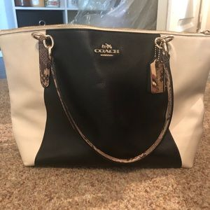 Coach Ava tote with exotic trim